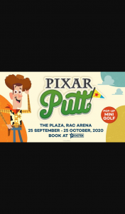 The Sunday Times – Win a Tee-Rrific Pixar Putt Family Experience at Rac Arena