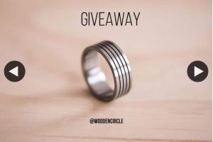 The Wooden Circle – Win Aerospace Grade Titanium Ring