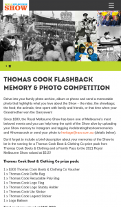 Thomas Cook Boots & Clothing – Win a Thomas Cook Boot & Clothing Co Prize Pack and a Family Pass to The 2021 Royal Melbourne Show (prize valued at $435)