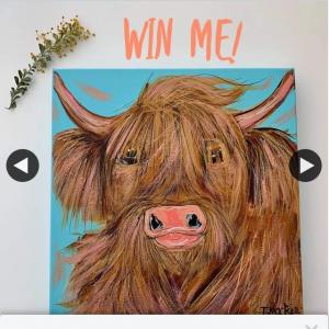 Tracey Mackie Artist – Win 'harper' an Original 30cm X 30cm