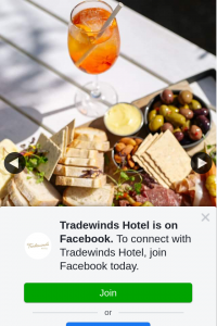 Tradewinds Hotel – Win a $150 Voucher to Enjoy With Friends Or Family at Our Bar Or Restaurant By Tagging The Person You'd Love to Share a Meal Or Drinks With You on a Spring Afternoon