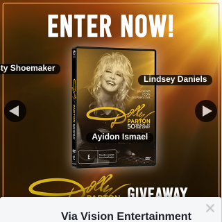 Via Vision Entertainment – Win a Copy of Dolly Parton50 Years at The Opry on DVD