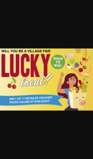 Village Fair Regents Park – Win 1 of 17 Village Fair Retailer Voucher Packs Valued at $100 Each (prize valued at $100)