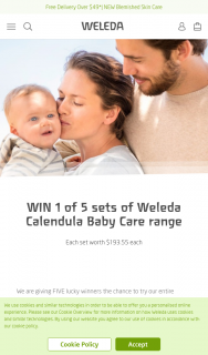 Weleda – Win Our Entire Calendula Baby Care Collection (prize valued at $193.55)