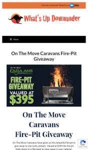 What's Up Downunder – Parable Productions – Win an on The Move Caravans Fire Pit [closes 12noon] (prize valued at $395)