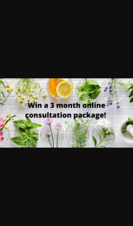 Win a 3 Month Online Consultation Package (prize valued at $650)