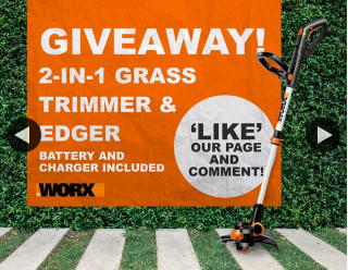 Worx Australia – Win a Free 20v 2-in-1 Grass Trimmer & Edger Valued at $179 (prize valued at $179)