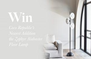 Cocorepublic – Win a Zephyr Alabaster Floor Lamp