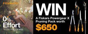 Gardening Australia – Win a Fiskars PowerGearX pruning prize pack