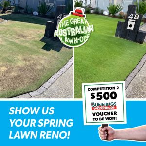 Lawn Solutions Australia – Win a $500 Bunnings voucher PLUS Lawn Solutions prize pack