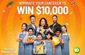 Network 10 – Junior MasterChef – Win a prize package of $10,000 to the Winner's nominated school or community club