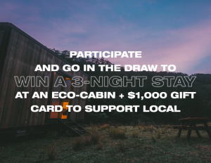 Urban List – Win a 3-night stay in an Eco-cabin PLUS a $1,000 Visa gift card