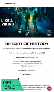 adidas – Win an Xbox Series X Console & Assassin's Creed/reebok Prize Pack Worth $1169