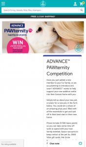 Advance Pet & Pet Circle – Win a Share of an Amazing Prize Pool (prize valued at $1,299)
