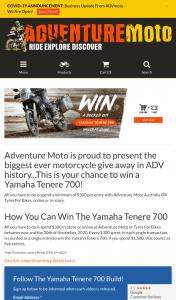 Adventure Moteo – Win The Yamaha Tenere 700