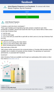 Arbre Beauty – Win an Arbré Lemon & Lime Spa Christmas Pack (prize valued at $104)
