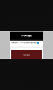 Frontier Touring – Win a Letter to You Prize Pack Consisting Of