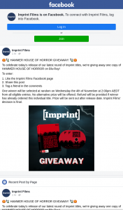 Imprint Films – Win a Copy of Hammer House of Horror