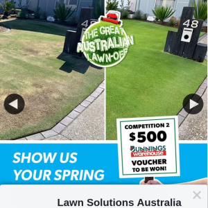 Lawn Solutions Australia – Win Allocated for That Particular Month As Outlined Above (prize valued at $600)