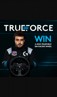Logitech – Win One of Two Logitech G923 Trueforce Sim Racing Wheels for The Platform of Your Choice (prize valued at $1,199)