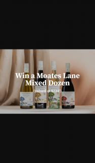 Mount Avoca – Win a Moates Lane Mixed Dozen Valued at $234 (prize valued at $234)