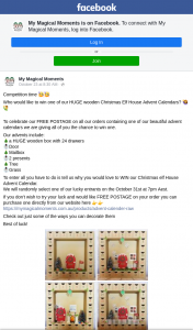 My Magical Moments – Win One of Our Huge Wooden Christmas Elf House Advent Calendars (prize valued at $75)