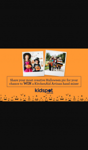 NewsLife Media-Kidspot – Win a Kitchenaid Artisan 9 Speed Hand Mixer Worth $209 to Whip Up Your Ghoulish Treats (prize valued at $205)