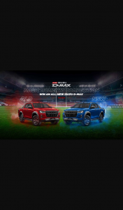 Nine Entertainment Wide World of Sport – Win an All-New Isuzu D-Max (prize valued at $68,344)