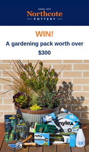 Northcote Pottery – Win a Gardening Prize Pack (prize valued at $300)