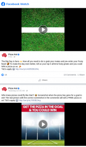 Pizza Hut – Win a Pizza on Us