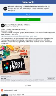 Pro Hart Art Gallery & online gift store – Win a Beach Towel
