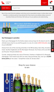 Qantas FF Wine – Win The Ultimate Luxury Stay for You and Five Guests In a One-Of-A-Kind Luxico Ultravilla Valued at Up to $45000. Picture Breathtaking Views (prize valued at $45,000)