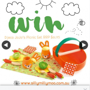 Silly Moo Moo – Win a Mini Wooden Toy Djeco Jojo's Picnic Set Valed at $65.95 to Enter (prize valued at $65)