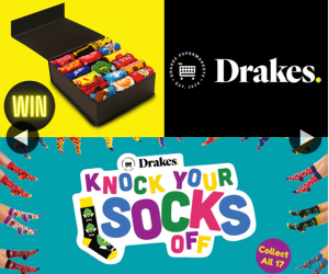 "South Aussie With Cosi – Win a Complete Set of Drakes ""knock Your Socks Off"" Socks??"
