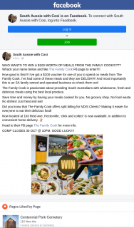 South Aussie With Cosi – Win a $100 Worth of Meals From The Family Cook?? (prize valued at $100)