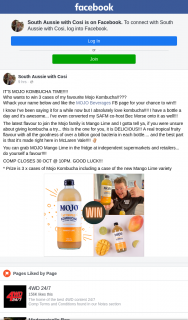 South Aussie With Cosi – Win 3 Cases of My Favourite Mojo Kombucha??