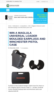 ssaa – Win a Maglula Universal Loader Moulded Earplugs and Winchester Pistol Case (prize valued at $149.95)