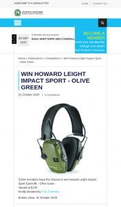 ssaa – Win Howard Leight Impact Sport (prize valued at $139)
