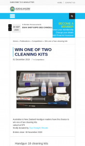 ssaa – Win One of Two Cleaning Kits (prize valued at $79)