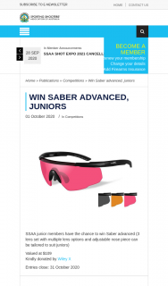 ssaa – Win Saber Advanced (prize valued at $109)
