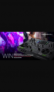Store DJ – Win a Denon Prime Go 2-deck Rechargeable Smart Dj Console (prize valued at $1,799)