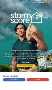 Suncorp Qld Residents- Get your storm score to – Win a Minor Prize (prize valued at $100)