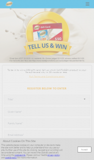 Sustagen – Win 1 of 3 $50 Mastercard Gift Cards