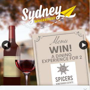 Sydney Weekender – Win a 3 Course a La Carte Dining Experience for Two at Restaurant Botanica at Spicers Vineyards Estate
