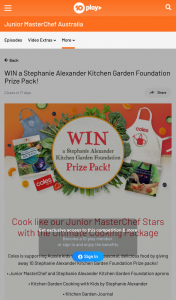 Channel Ten – Win In this Competition (prize valued at $6,800)