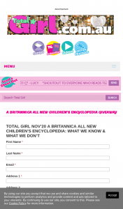 Total Girl – Win 1/10 Britannica All New Children's Encyclopedia What We Know & What We Don't Books (prize valued at $600)