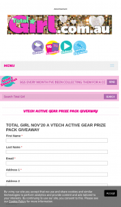 Total Girl – Win 1/4 Vtech Active Gear Prize Packs (prize valued at $560)