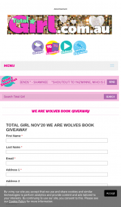 Total Girl – Win 1/25 We Are Wolves Books (prize valued at $500)