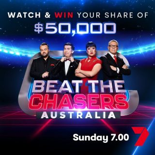 7Plus – Beat The Chasers – Watch and Win  – Answer the Quiz to win $50,000