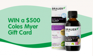 Brauer Natural Medicines – Win a $500 Coles Myer gift card